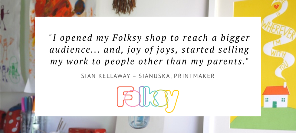 why sell on folksy, where to sell original prints online