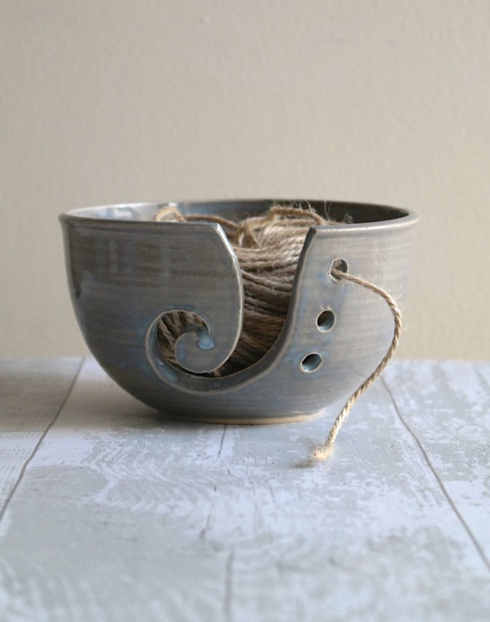 stoneware yarn bowl, kara leigh ford, ceramics, pottery, selling ceramics uk