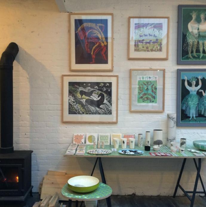 Sarah Young, studio, Brighton, artist studio, Atelier 51