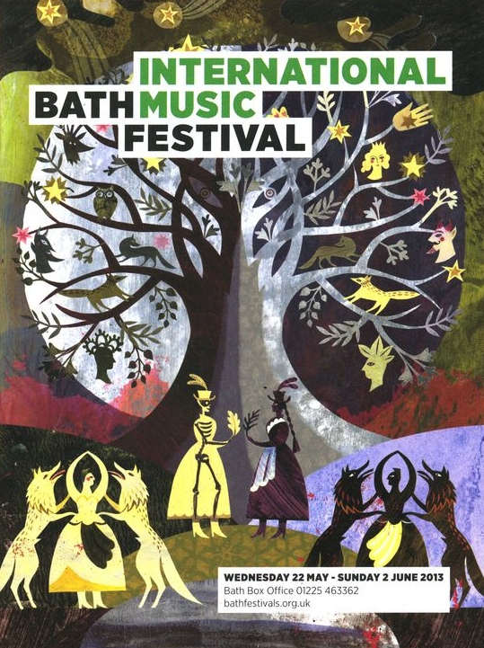 Bath Music festival poster, Sarah Young,
