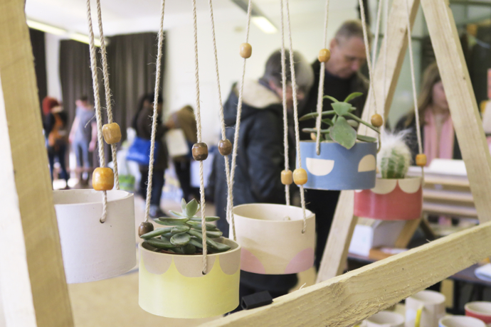 Hanging planters, craft fair displays