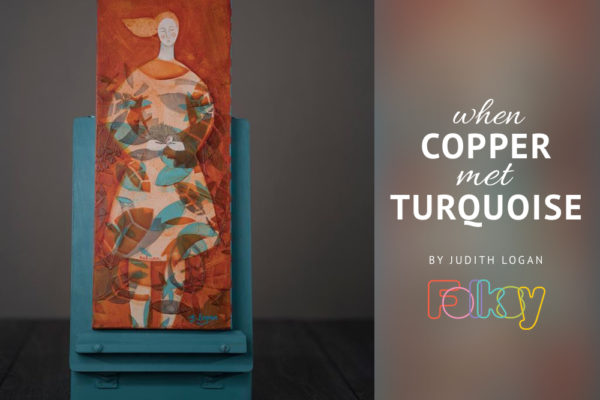 copper and turquoise, Judith Logan