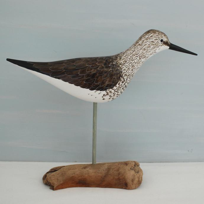 Greenshank, bird carving, bird sculpture, wood, carved birds, Greenshank bird,