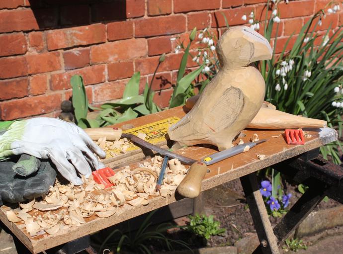 carved bird, bird carvings, wood birds, wooden bird, LJ Wood Carving, Lee Jenkins, bird artist uk, National Trust