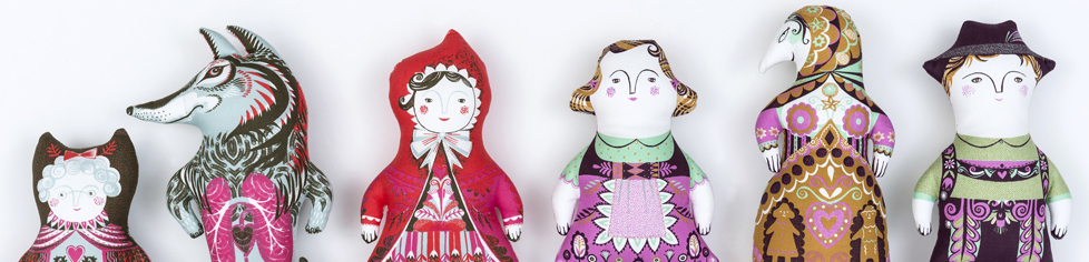 Sarah Young, dolls, tea towel kits
