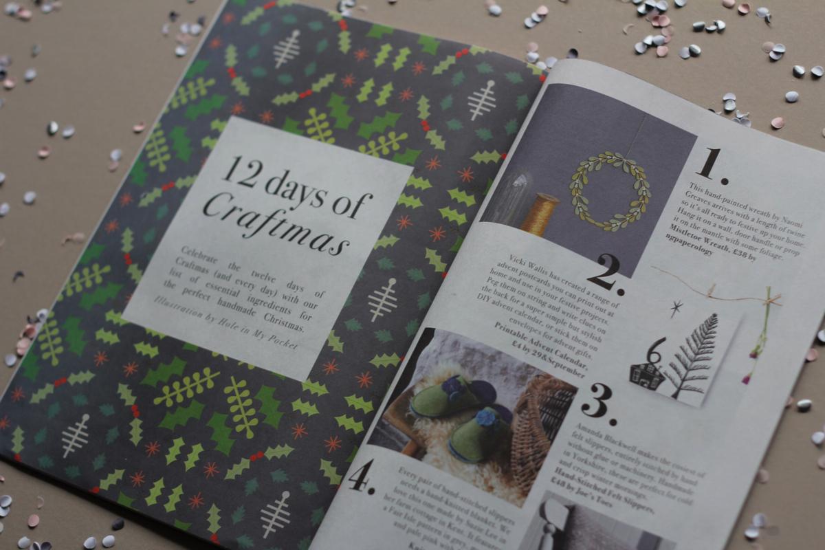 Folksy Christmas magazine, buy craft online, newspaper club, mini newspaper,