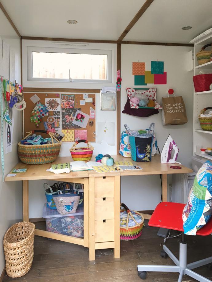 garden studio, Kate Rowe, textile designer