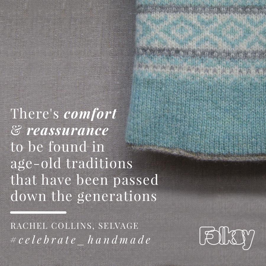 Hand-knitted Fair Isle Blanket, Selvage, Celebrate handmade,