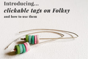 New Clickable Tags and Tag Pages on Folksy – what they are and how to use them