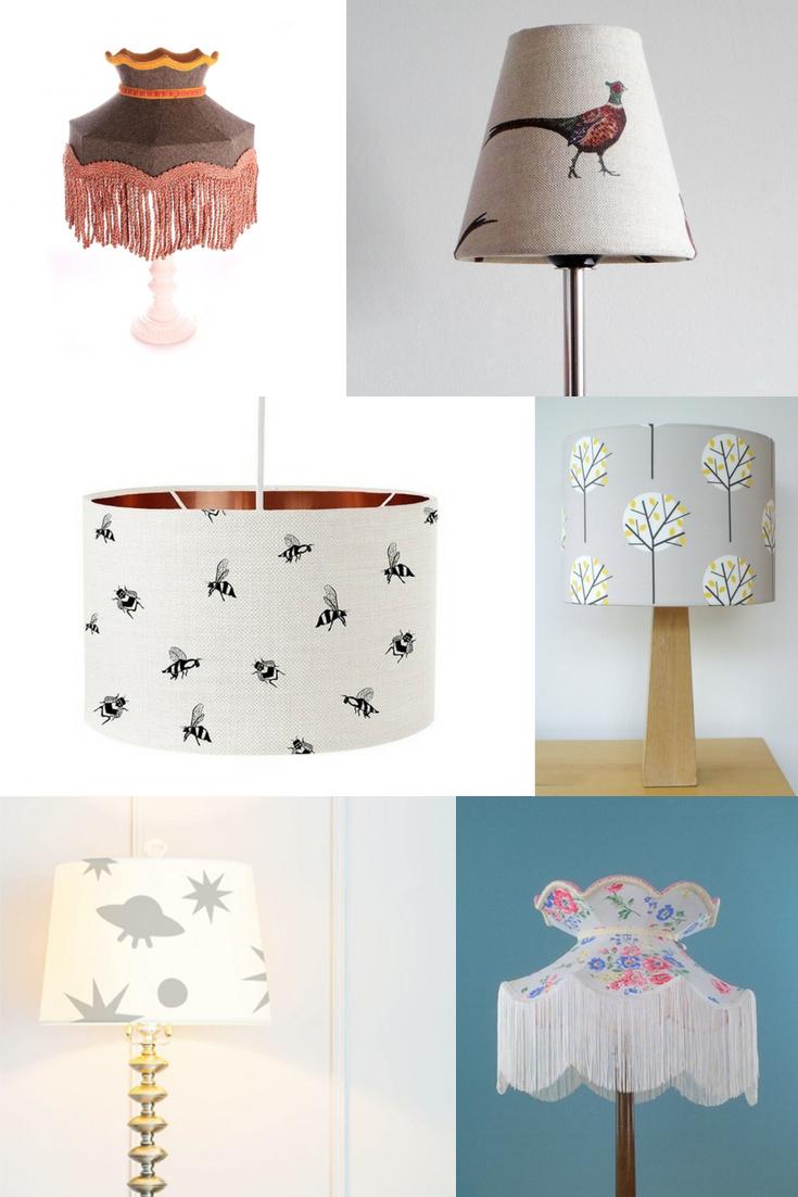 handmade lampshades, uk lampshades, pretty lampshade