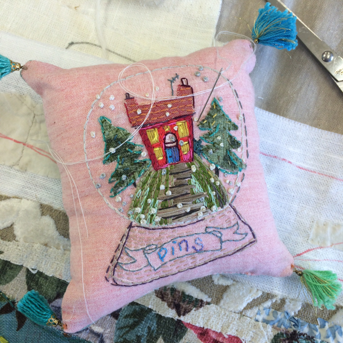 Marna Lunt, embroidery artist, workshop
