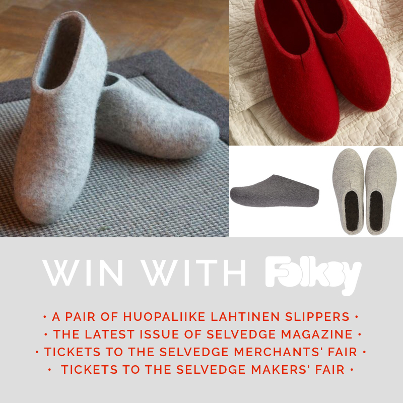 Selvedge Slippers Giveaway