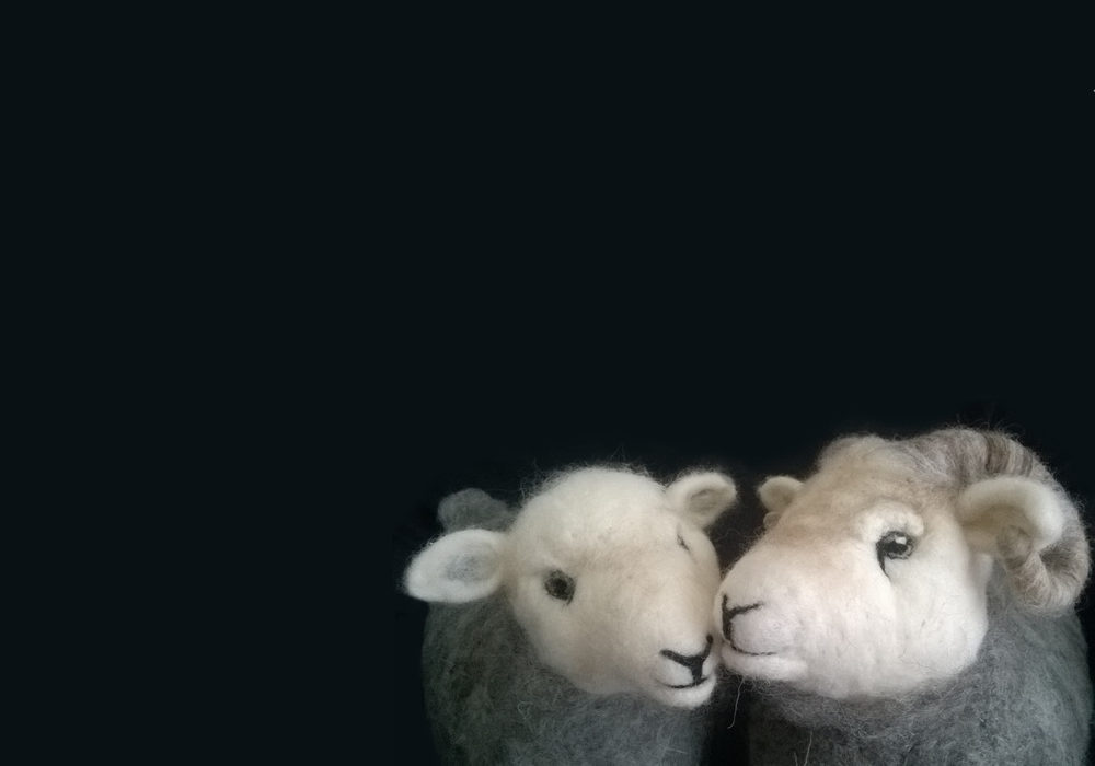 Needle felted sheep, Herdwick Sheep