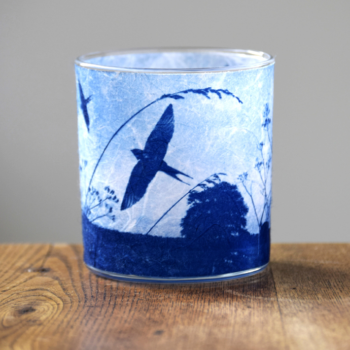 Swallows tea light holder, Way To Blue