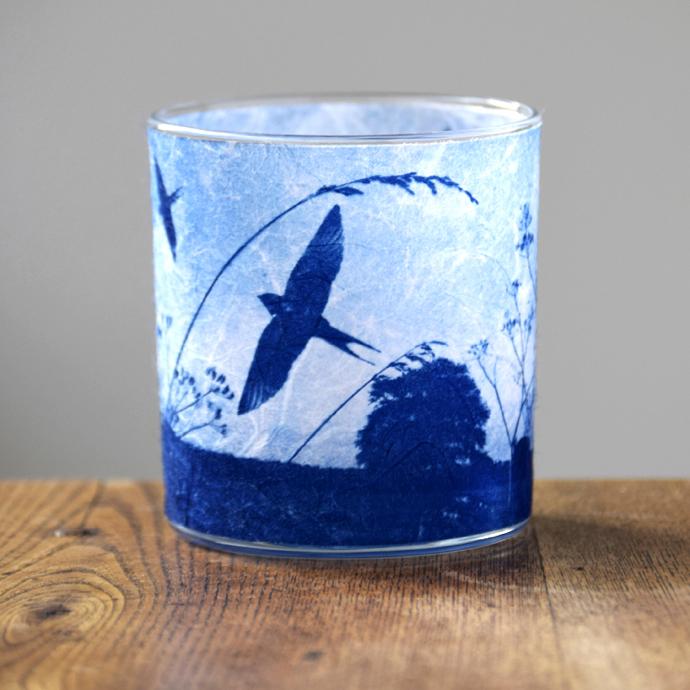 Swallows tea light holder, Way To Blue