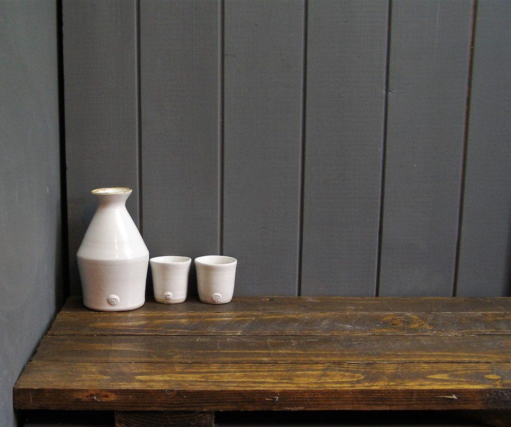 Japanese Sake Set, Handmade Sake Set, Handmade Pottery, Trawden Pottery