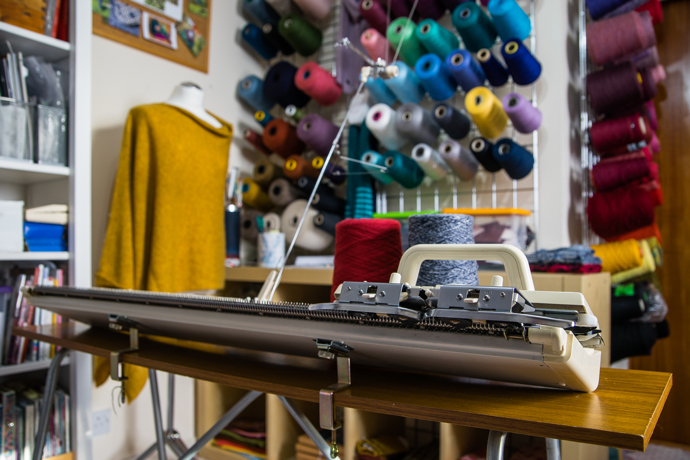 knitting machine, Elizabeth Larsen Knitwear, Scottish Highland, Scottish artisan, Knits, Scottish Knits, knitted accessories,