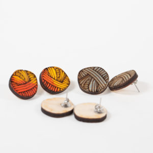 https://folksy.com/items/6622134-BABY-BALLS-of-yarn-hand-painted-wooden-earrings-Knitting-Wool-Craft