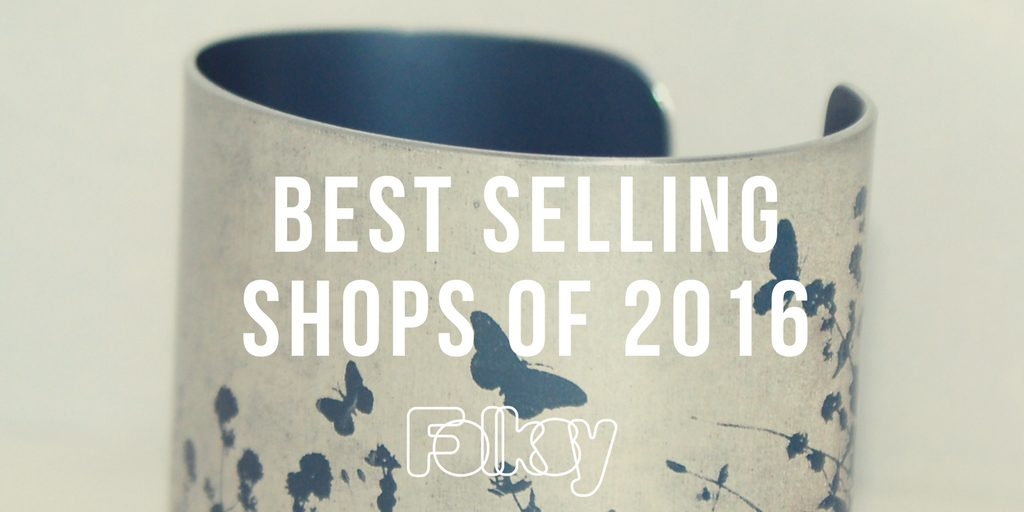 best selling shops 2016, Folksy