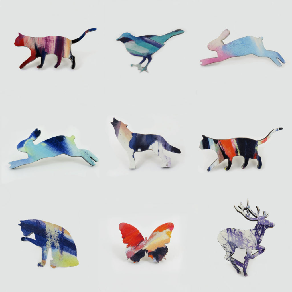 Animal Brooches, Justine Nettleton, Art You Wear,