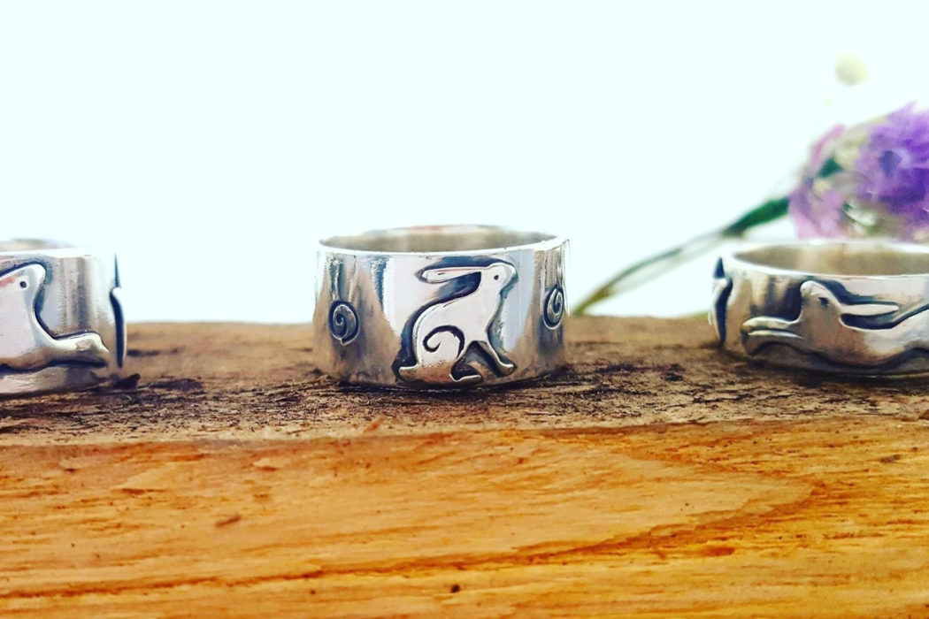 hare rings, LucyLou Designs, British jewellery, Jo Bignold, jeweller, lost wax jewellery, silver hare jewellery, hare jewellery
