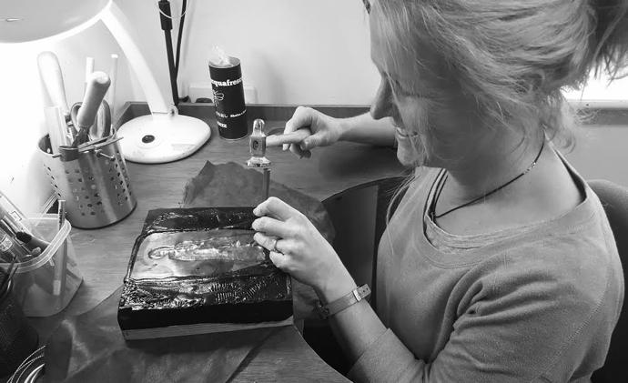 LucyLou Designs, British jewellery, Jo Bignold, jeweller, lost wax jewellery, silver hare jewellery, hare jewellery