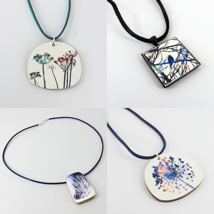 Justine Nettleton, jewellery, painted necklaces,