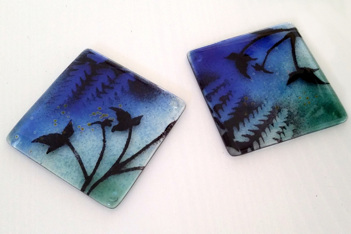 glass coasters, Verity Pulford,