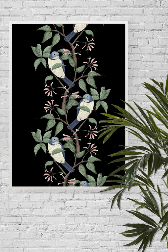 Lydia Meiying, Lydia Meiying illustrator, bird spotting print,