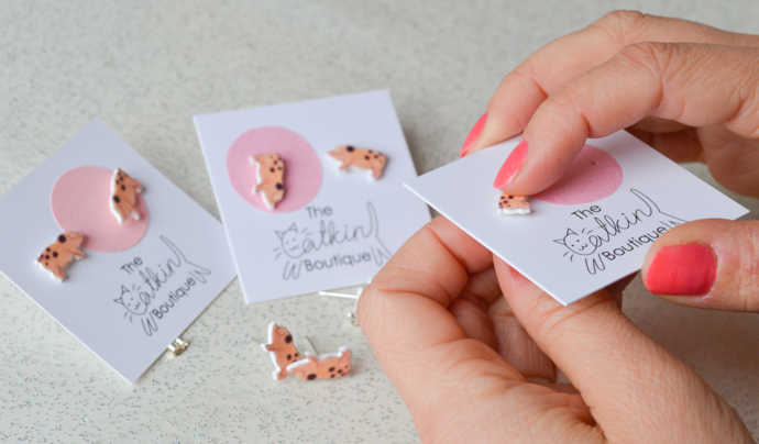 The Catkin Boutique, illustrated jewellery, cute animal jewellery, interview