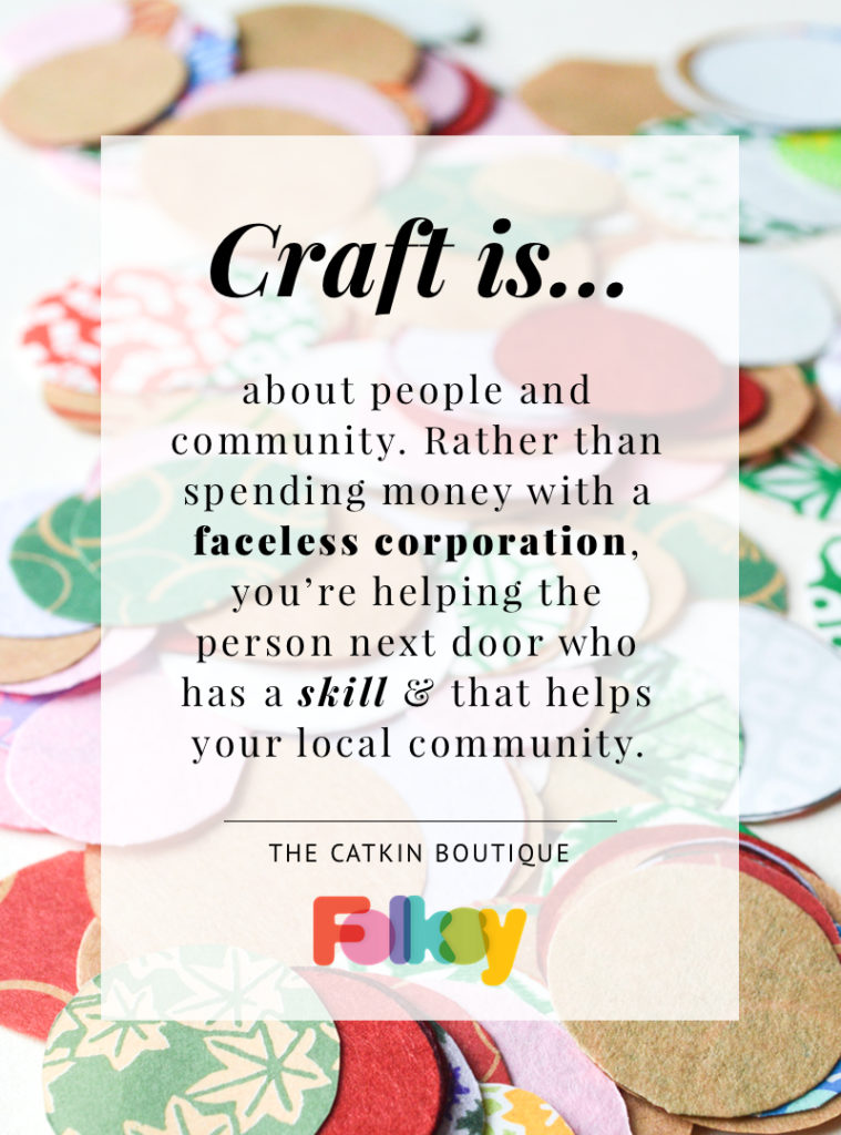 Catkin Boutique, what is craft,