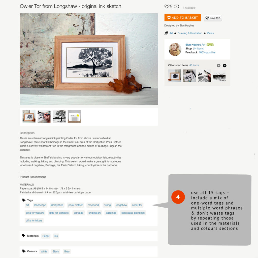 Folksy listing tips, tags,