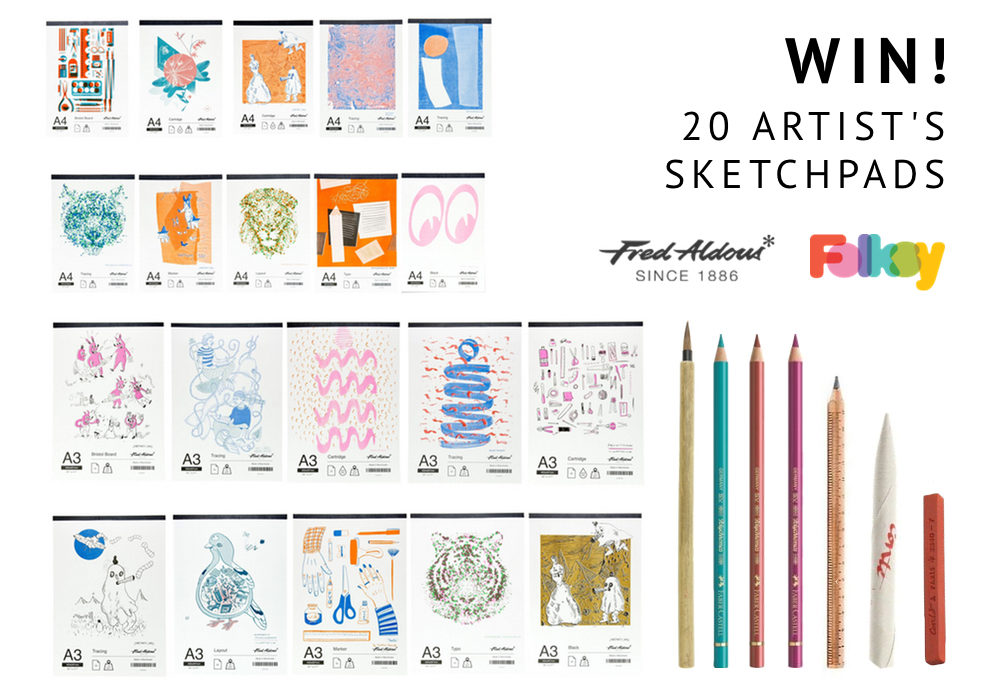 Fred Aldous sketchpads, giveaway,