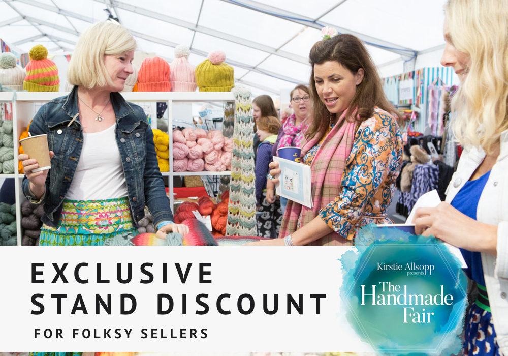 handmade fair, stand discount, handmade fair stand, handmade fair offer,
