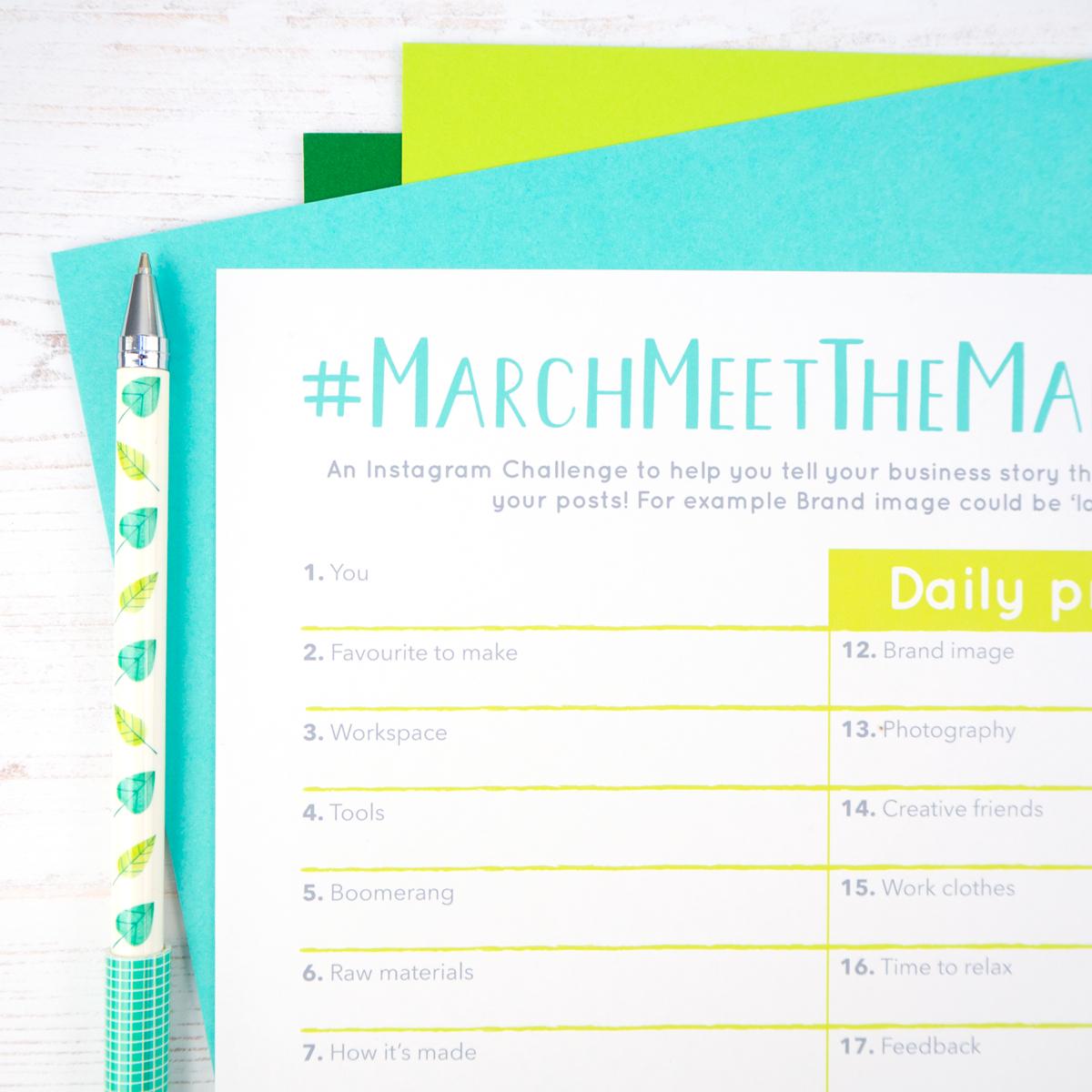 Marchmeethemaker, meethemaker tag, Instagram challenge, Joanne Hawker, interview