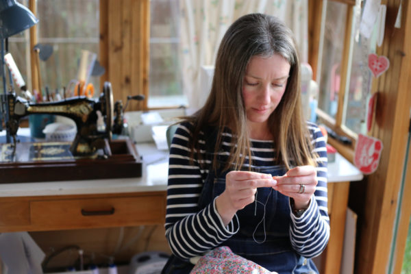 katy livings, stitch and sprig, textile dolls, heirloom textile dolls, textile rabbits, interview,