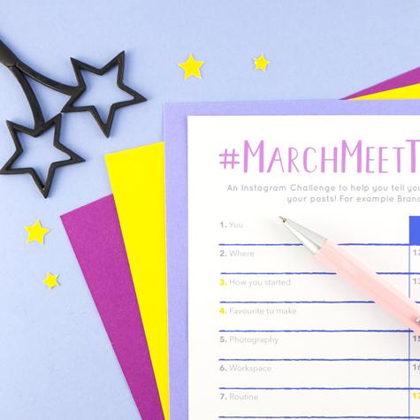 MarchMeetTheMaker planner, free planner, March Meet the Maker planner