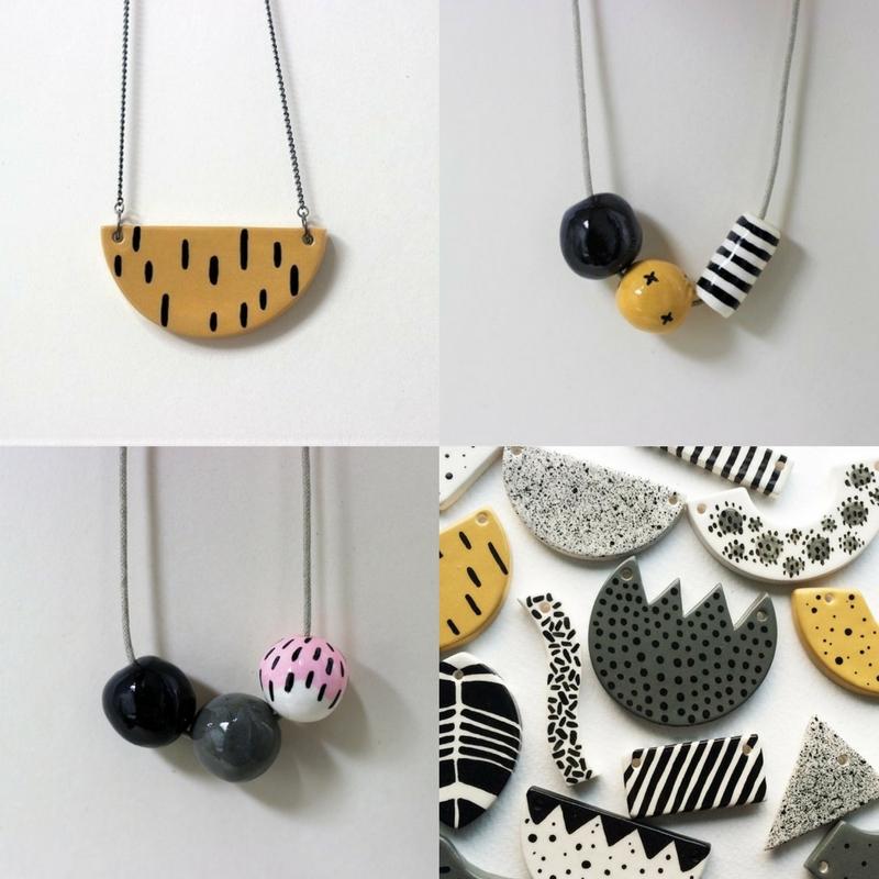 Natko Ceramics, Ceramic Necklaces, Clay Bead Necklaces, Nato Ceramics Necklace