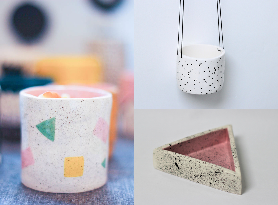 Natko Ceramics, hanging planter, trinket dish