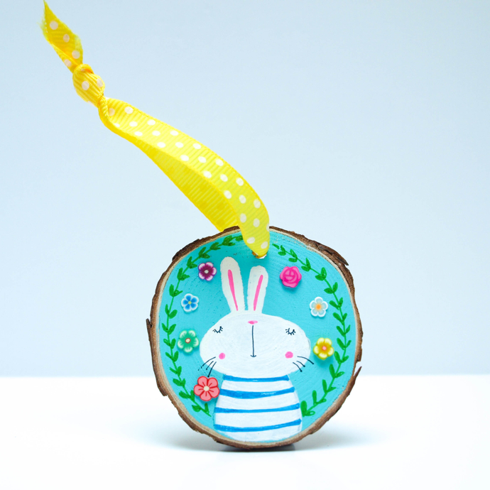 Easter decoration, rabbit decoration, Hofficraft, Welsh illustrator, interview, Amanda Hartley,