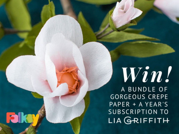 Lia Griffith competition, crepe paper, giveaway,