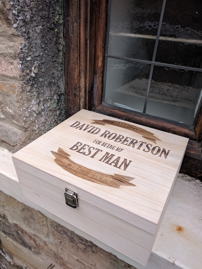 best man gift beer box