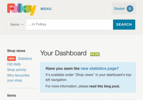 Folksy stats page,