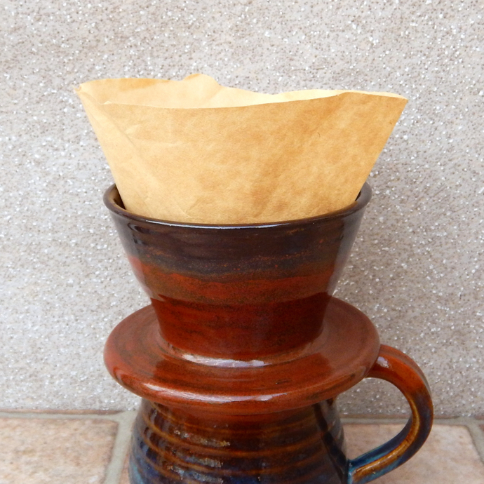 handmade coffee filter, coffee dripper, caractacus pots,