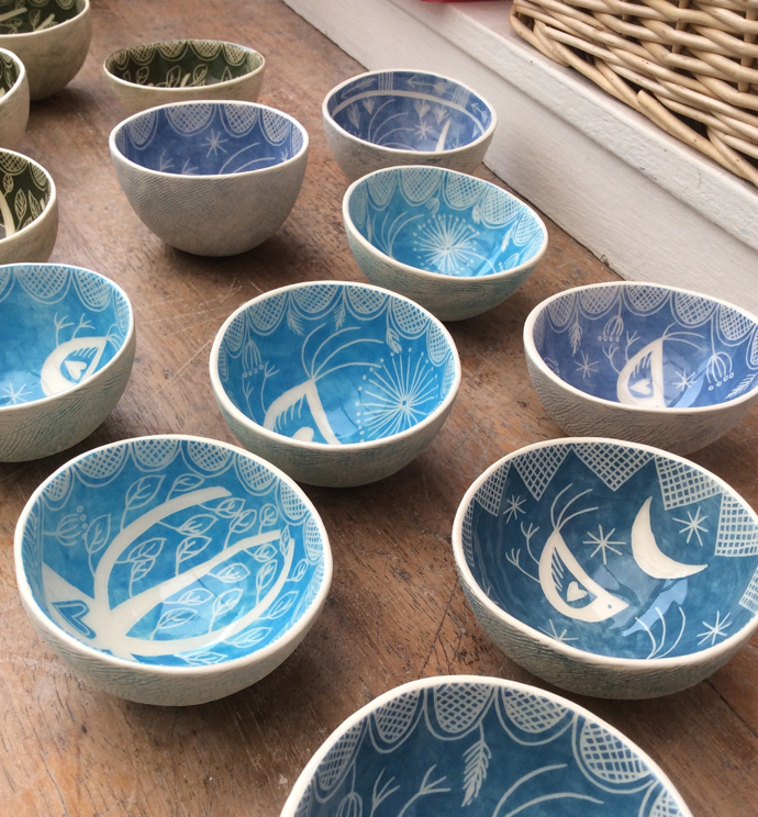 Kath Cooper Ceramics, decorative ceramics, handmade pottery, bird bowls, UK potter, British pottery, British ceramics,
