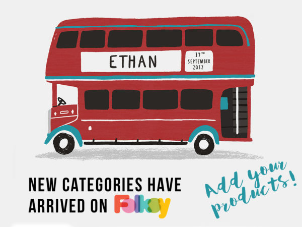 new categories on Folksy, seller tips