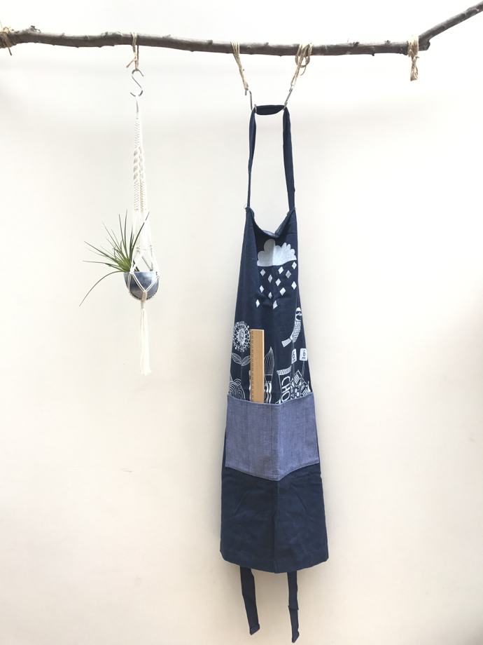 wipsandblooms, ceramic magpie, Folksy apron, May challenge, competition