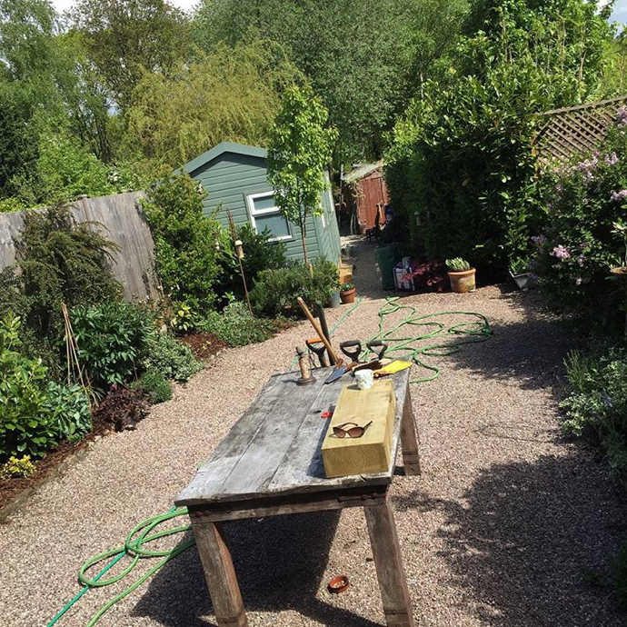 garden studio, Julie Love Little Works of Art, Julie Love, wooden birds,