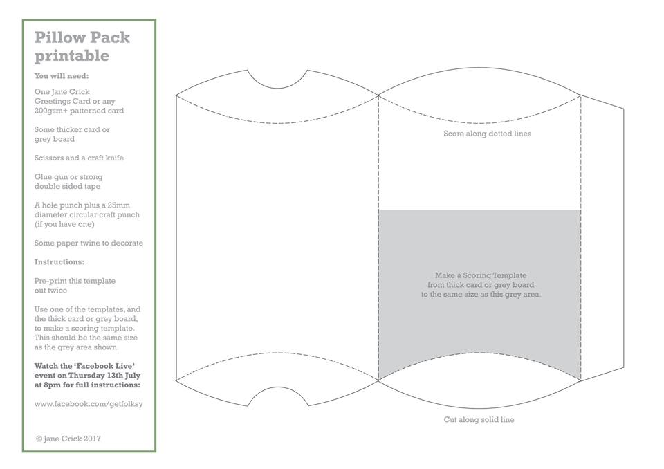 Pillow Gift Boxes Template
