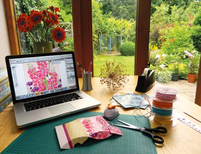 Jane Crick, floral illustration, gift wrap designer, designer gift wrap, Jane Crick interview,